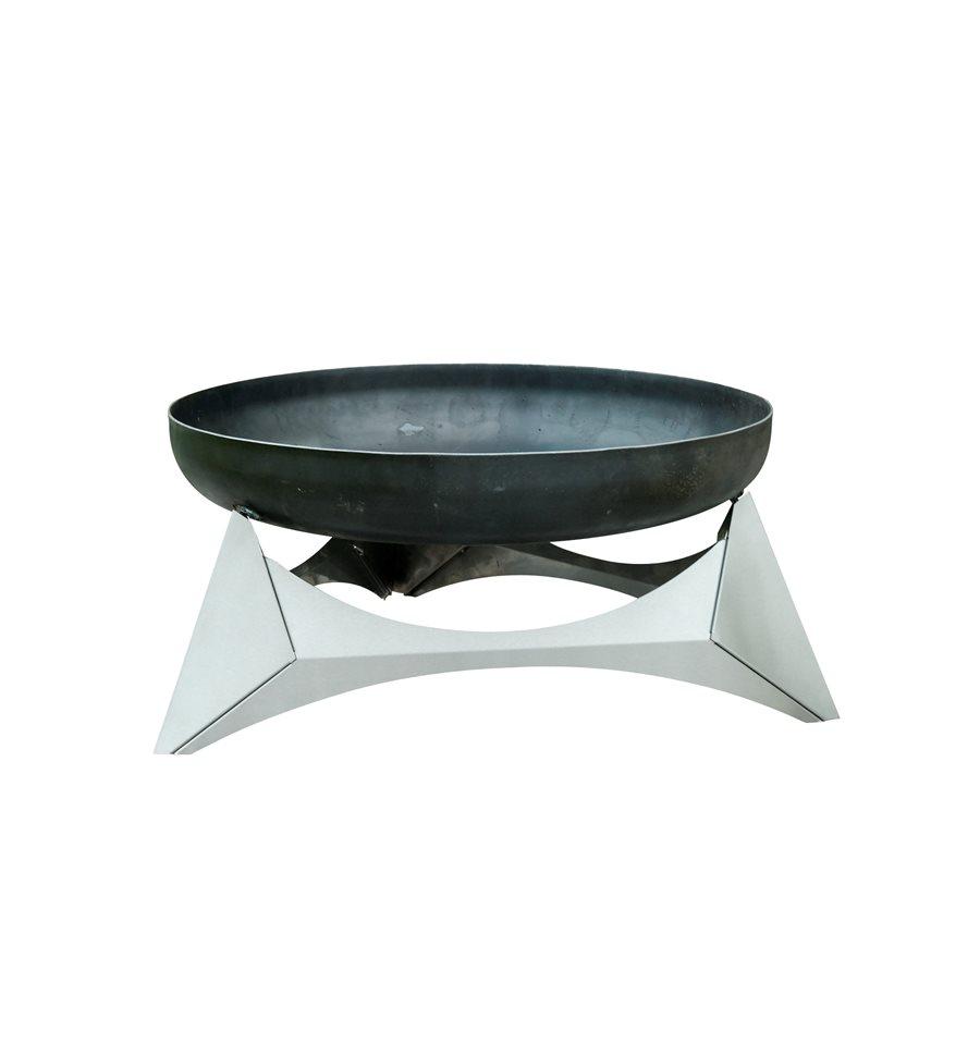 design feuerschale arka gr e l edelstahl basis mit feuerschale aus massivem rohstahl 3 2 mm. Black Bedroom Furniture Sets. Home Design Ideas