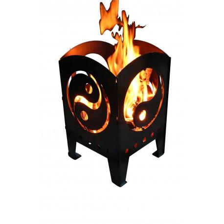 SvenskaV Feuerkorb L Yin und Yang 47 cm hoch