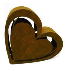 Rost Herz -Carlos- 50 cm breit mit Ausschnitten