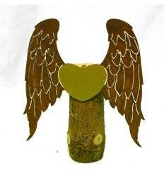 Engelsflügel Liebe mit Goldherz, Höhe 30 cm