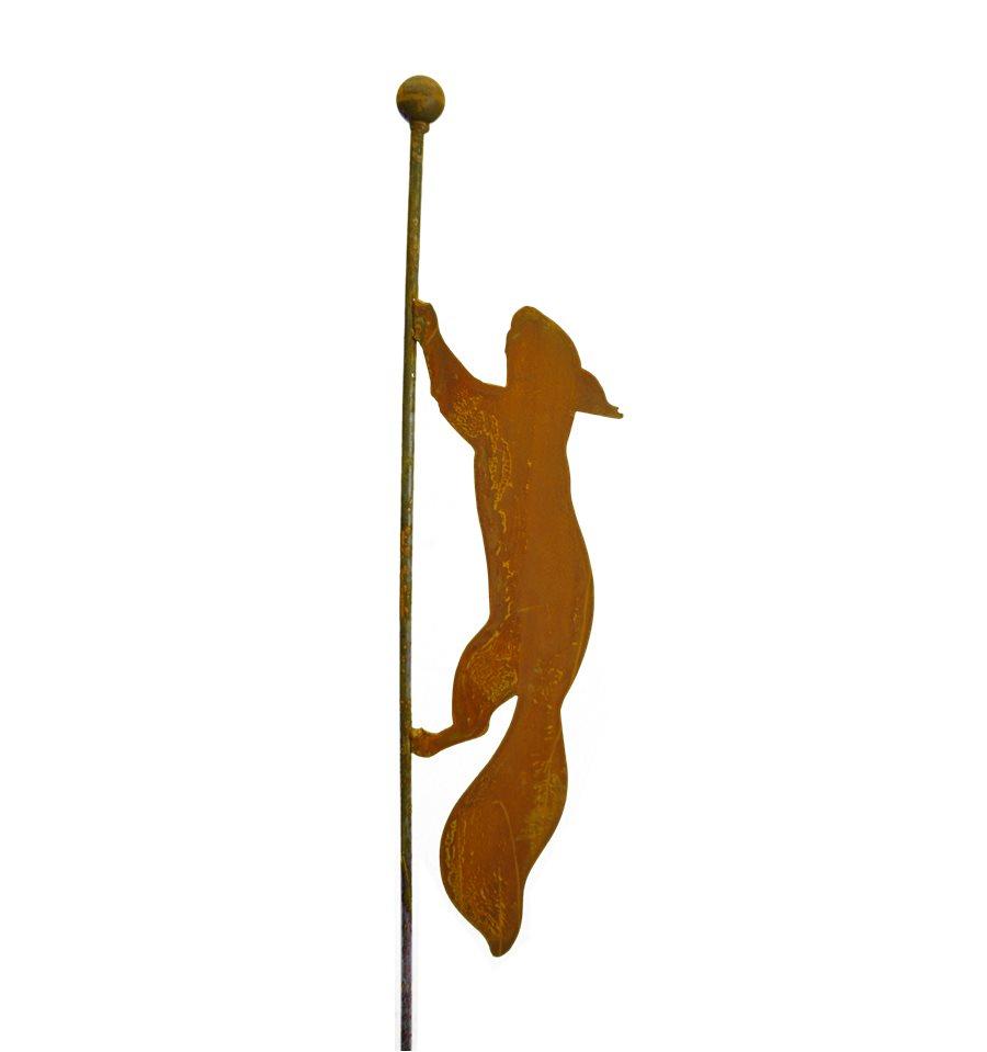 laufendes Eichhörnchen Gartenstecker 119 cm hoch - Metallmichl