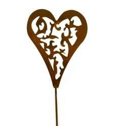 Herz Madera auf Stab klein