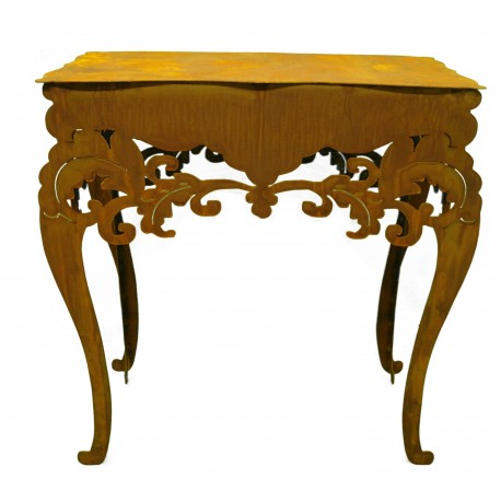 """Rost Tisch """"Barock"""" hoch, H 97 cm, B 71 cm, T 40 cm"""