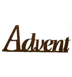 """""""Advent"""" Schriftzug mit Platte 60cm lang,"""