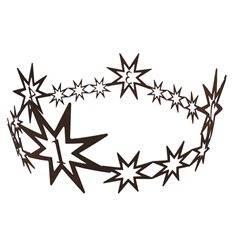 Adventkranz -Sternenkette- 1-4 rund geschweist