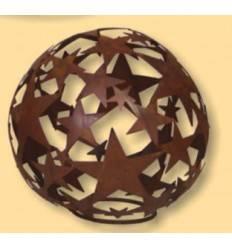 Sternkugel aus Edelrost - geschlossene Sterne - klein Ø 30 cm