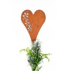 Gartenstecker Herz mit Ranke 30 cm - Gesamthöhe 120 cm