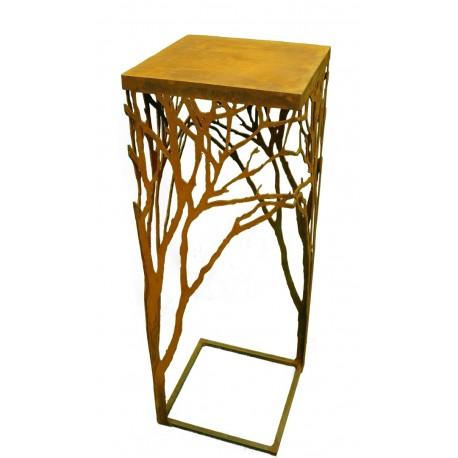 edelrost ast tisch 100 cm hoch 35x35cm. Black Bedroom Furniture Sets. Home Design Ideas