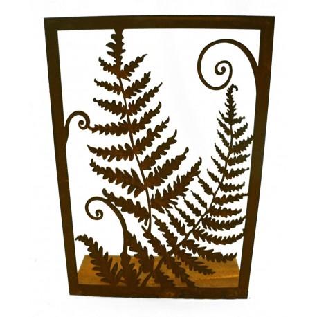 Edelrost Farn Bild auf Platte Höhe 37cm, Breite 25,5cm von Saremo