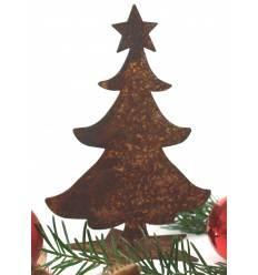 Mini Christbaum auf Stern 12 cm hoch