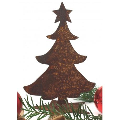 Mini Rost Christbaum auf Stern 12 cm hoch
