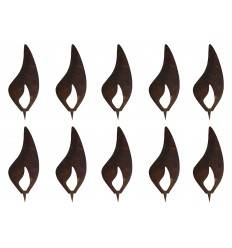 10er Set Flammen 10 cm