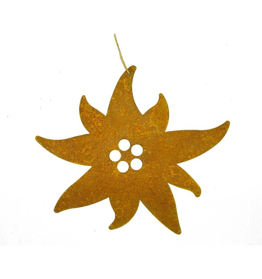Mini edelwei zum h ngen 8 cm metallmichl for Wohndesign sera