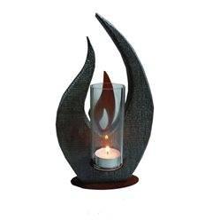 Tischleuchte -Flamme- mit Antikeffekt