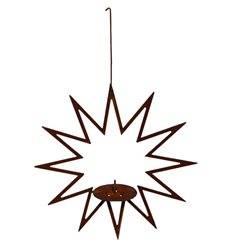 Stern zum Hängen für Meisenknödel oder Kerze