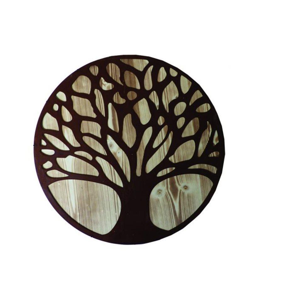 edelrost wandbild leben 510 lebensbaum rostig auf einer fichtenholzplatte. Black Bedroom Furniture Sets. Home Design Ideas
