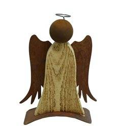 edelrost engel mit holz in edlen kombinantionen direkt vom hersteller metallmichl. Black Bedroom Furniture Sets. Home Design Ideas