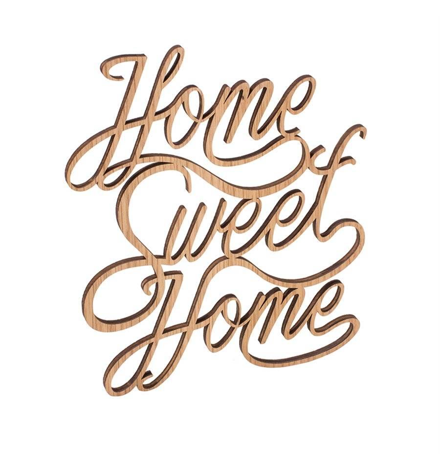 Holz Dekoschriftzug Home Sweet Home Von Der Waldfabrik Art 6671