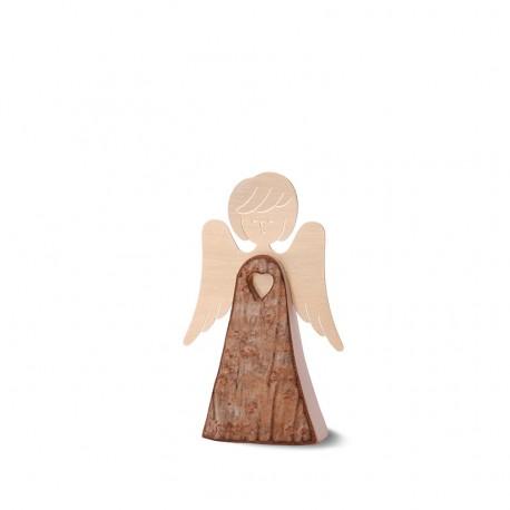 Engelfigur mit Herz und Messingflügeln, Typ 2, Gr. 1 H: 7,5 cm
