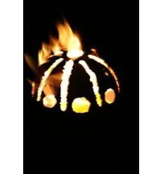 Feuersonne Edelstahl Gartenfackel - handgefertigt - Jedes ein Unikat