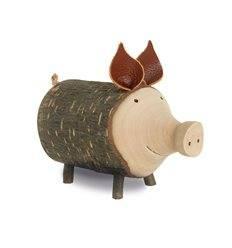 "Holz-Schwein Gr. 4 ""Rosalie"" ø 7,5 - 8,5 cm"