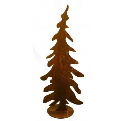 edelrost tannenbaum schief 70cm rostdeko vom metallmichl. Black Bedroom Furniture Sets. Home Design Ideas