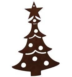 """Christbaumschmuck """"Weihnachtstanne"""" mit Kugeln, 8 cm hoch"""