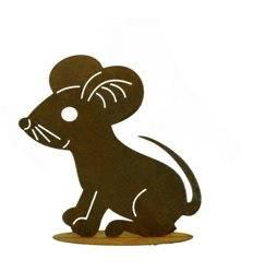 große lustige Rost Maus 23 x 21 cm (Grüfelomaus)