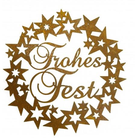 "Sternenkranz ""Frohes Fest d 40cm"