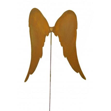 lange Engelsflügel, schräg auf Stab L29cm, b25cm