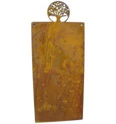 Blanko Rostschild Mittel Motiv Lebensbaum 40 x 20 cm | Blechschild