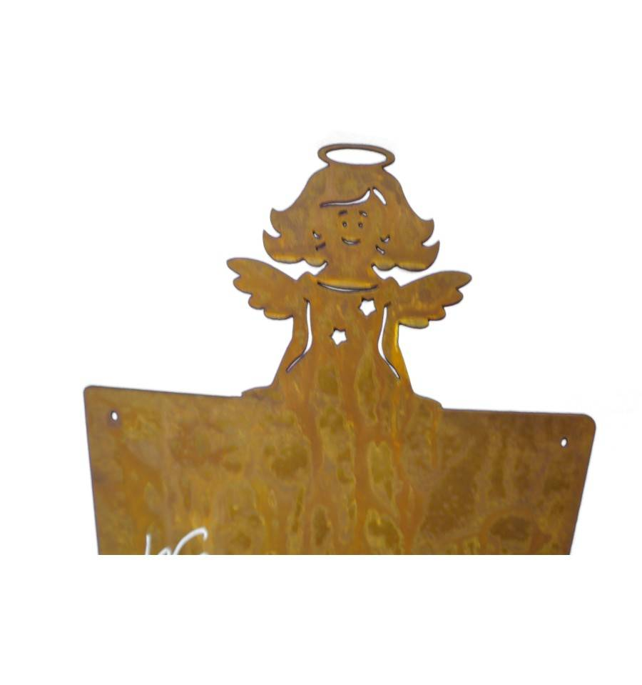 Blanko rostschild mittel motiv engel mirabell 40 x 20 cm for Wohndesign sera