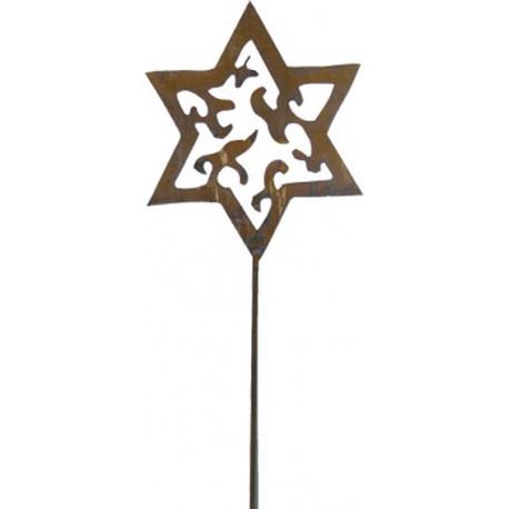 Stern groß aus Metall auf Stab 1,5
