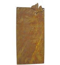 Blanko Rostschild Groß Motiv - Ginkgo - 50 x 25 cm - Blechschild