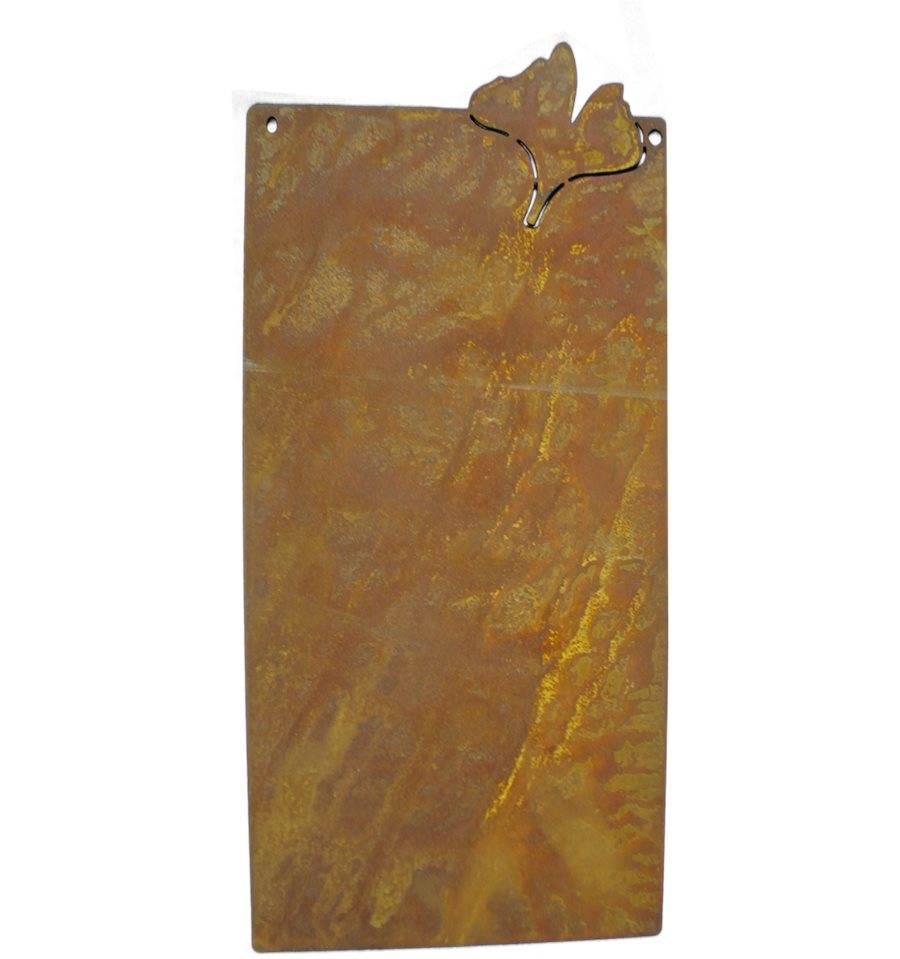 Blanko rostschild gro motiv ginkgo 50 x 25 cm for Wohndesign sera