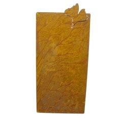 Blanko Rostschild Mittel Motiv Ginkgo 40 x 20 cm - Blechschild