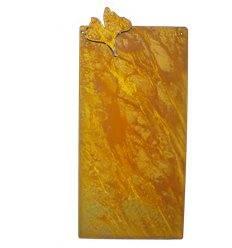 Blanko Rostschild klein Motiv Ginkgo 25 x 12,5 cm | Blechschild