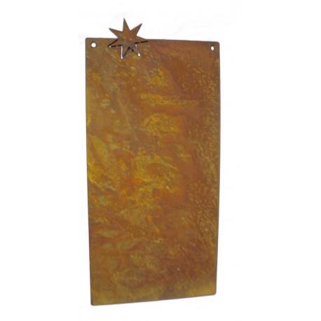 Blanko Rostschild klein Motiv 1 Stern 25 x 12,5 cm