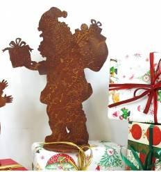 Santa auf Platte - 30 cm hoch Weihnachtsmann - Nikolaus