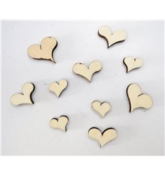 Holz Tischdeko Motiv Herz 30 Gramm im Beutel