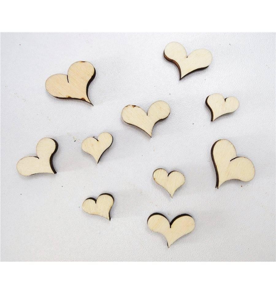 Holz tischdeko motiv herz 30 gramm im beutel herzdeko for Herz tischdeko