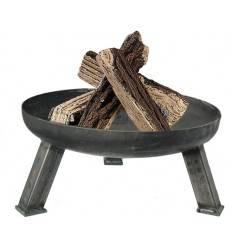 schlichte Feuerschale Rund Ø 65 cm mit Eisenfüßen MASSIV 12,5 kg schwer