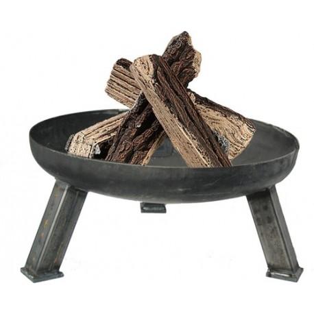 schlichte Feuerschale -Rund- Ø 65 cm mit Eisenfüßen