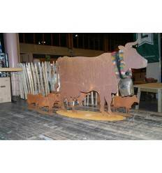 Kuh XXL 100 cm hoch x 140 cm breit