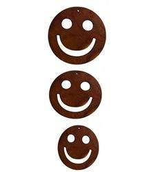 3 tlg. Smileykette ungefädelt