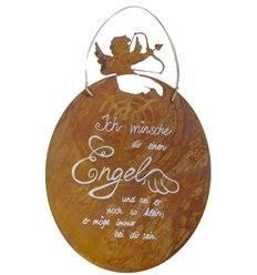 """Tafel - Amore - inkl. Beschriftung: """"Ich wünsche dir einen Engel und sei er noch so klein, er möge immer bei dir sein."""""""