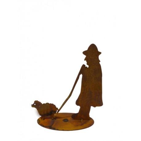 Schafshirte Franz - Edelrost Figur