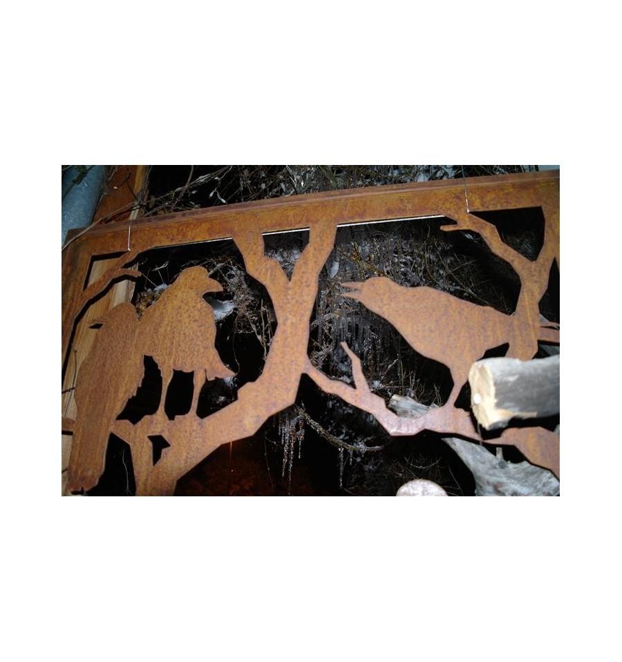 Raben paravent 200 cm x 100 cmartikel die nur im laden zu - Sichtschutzwande aus stein ...