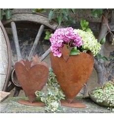 Edelrost Rose auf Platte in 2 Größen Garten Dekoration Pflanzgefäß Windlicht
