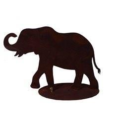Edelrost Elefant 10 cm hoch